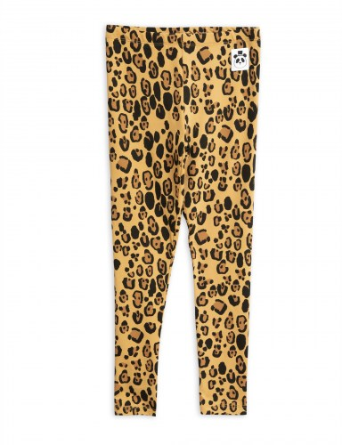 Mini Rodini - Basic leopard leggings beige
