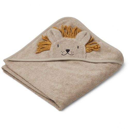 Liewood - Albert hooded Towel Lion stone beige