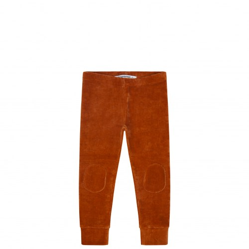 Mingo - Velvet rib legging leather brown
