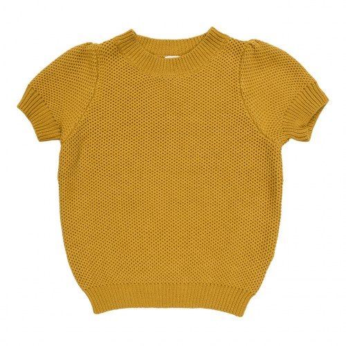Maed for mini - Golden grashopper knit top