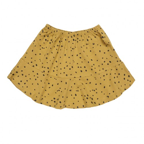 Maed for mini - Ochre ocelot short skirt